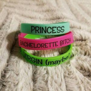 Set of 3 Rubber Bracelets